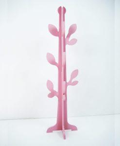 arbol hojas rosa