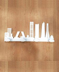 skyline madera blanco