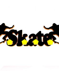 perchero con forma de skate negro